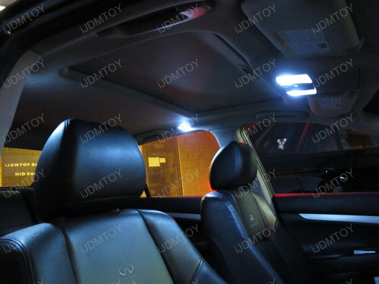 Infiniti - G35 - car - interior - led - lights - 3